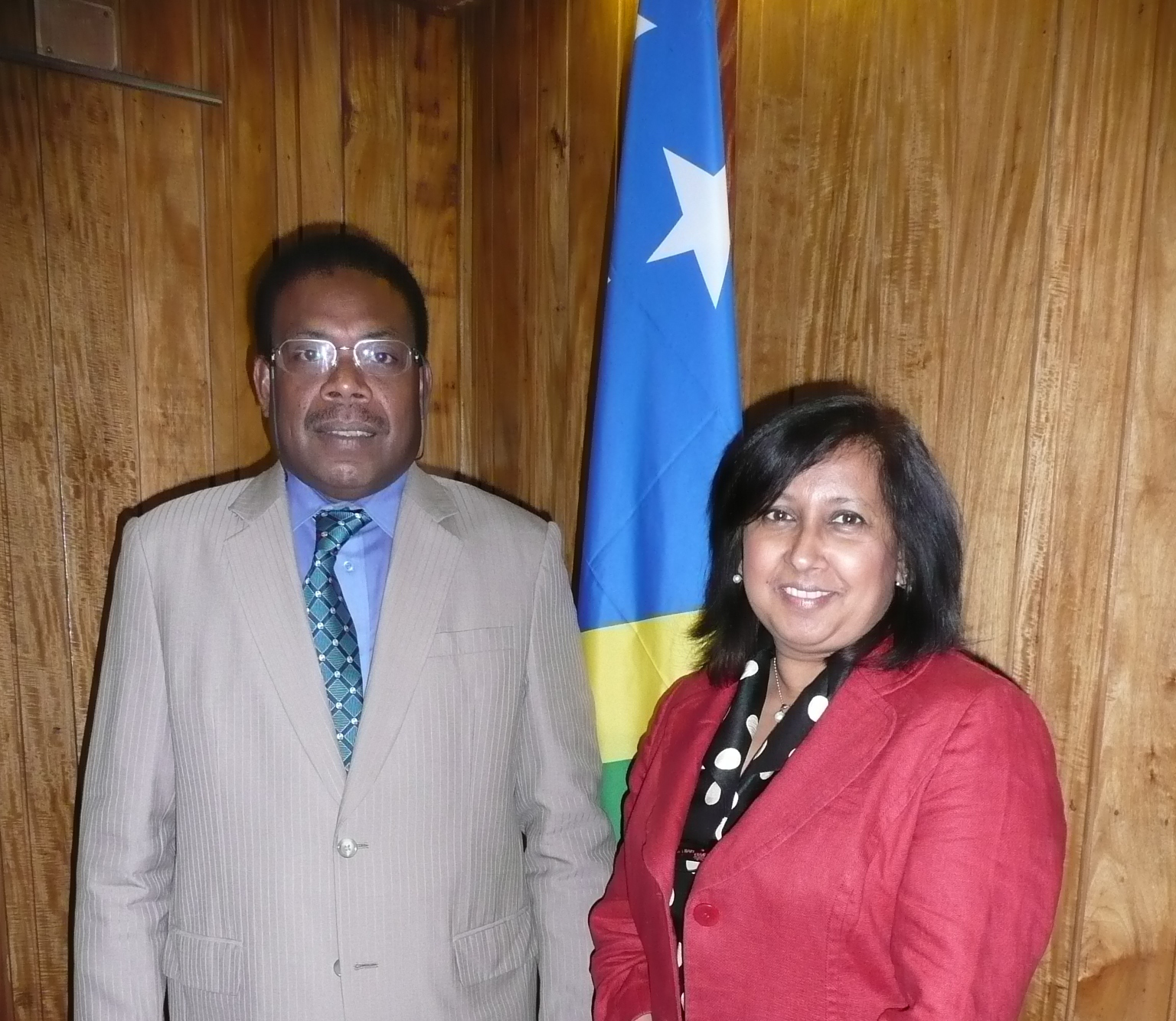 With Solomon Islands PM Sikua