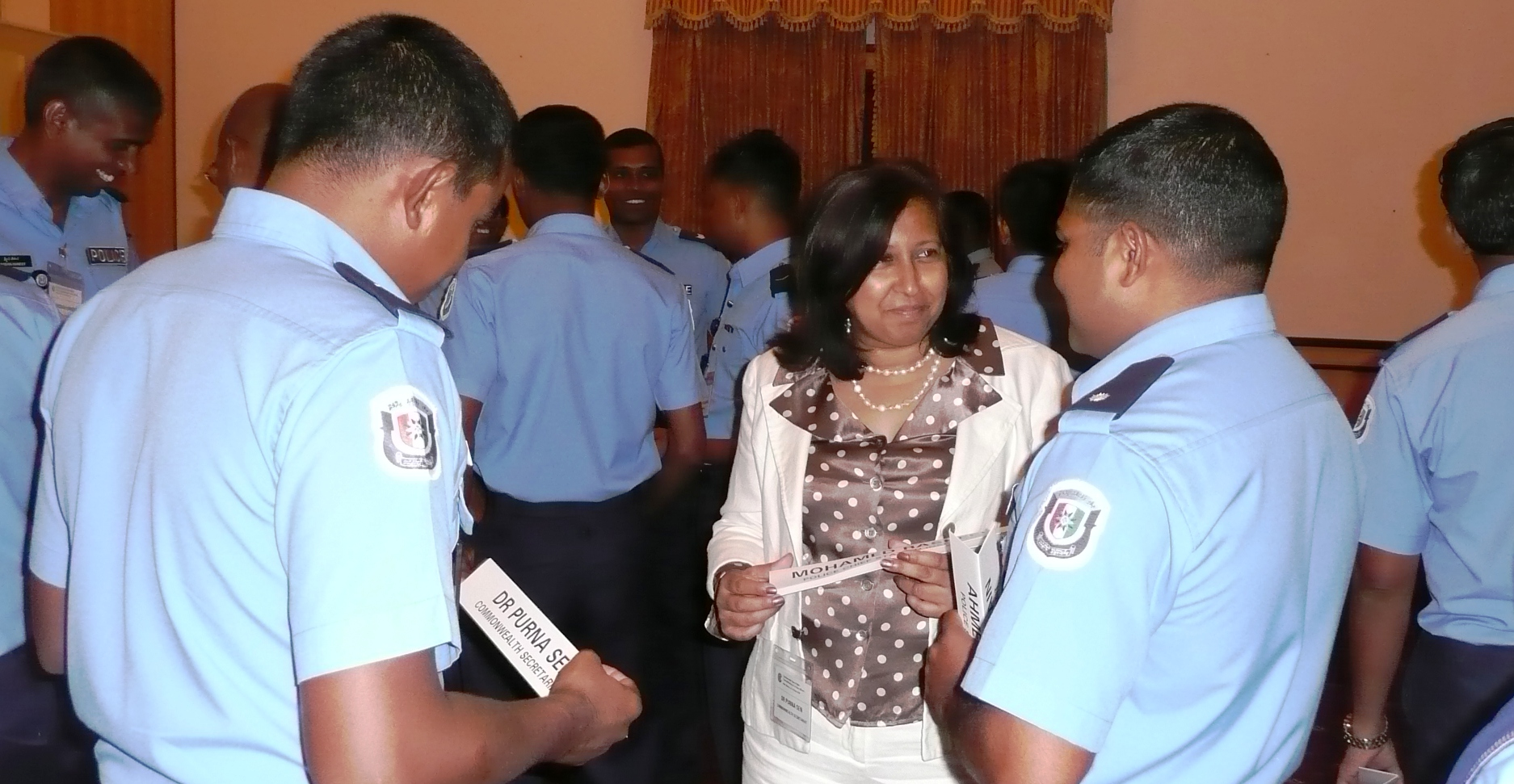 Maldives police workshop